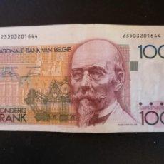 Billetes extranjeros: BILLETE ORIGINAL BELGICA 100 FRANCOS 1994 BC. Lote 207541067