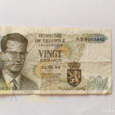 Billetes extranjeros: BILLETE DE 20 FRANCOS BELGAS - VINGT FRANK - NATIONALE BANK VAN BELGIE - BÉLGICA - 1964. Lote 207579713