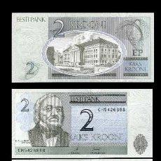 Billetes extranjeros: ESTONIA 2 KRONI DE 2007 CUARTETO CORRELATIVO(KARL ERNST - FUNDADOR DE LA EMBRIOLOGIA DE ORIGEN RUSO). Lote 208001086
