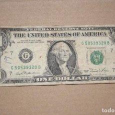 Banconote internazionali: ESTADOS UNIDOS - 1 DOLAR 1981 LETRA G BC-. Lote 208409161