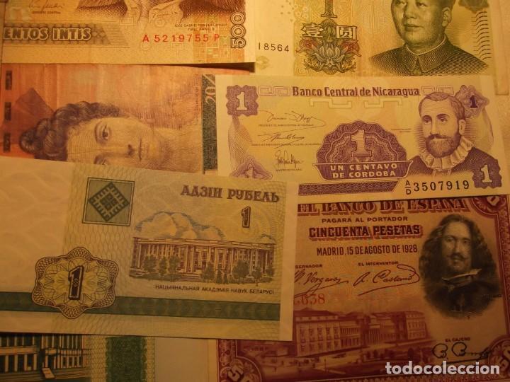 22 BILLETES VARIOS , ESPAÑA ENTRE OTROS MUCHOS SIN CIRCULAR Y UN DOLAR (Numismática - Notafilia - Billetes Extranjeros)