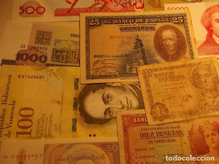 Billetes extranjeros: 22 Billetes varios , España entre otros muchos sin circular y un dolar - Foto 4 - 208469387
