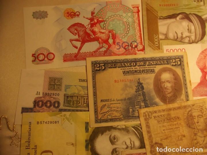 Billetes extranjeros: 22 Billetes varios , España entre otros muchos sin circular y un dolar - Foto 5 - 208469387
