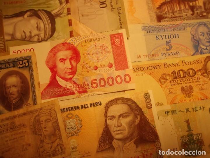 Billetes extranjeros: 22 Billetes varios , España entre otros muchos sin circular y un dolar - Foto 6 - 208469387