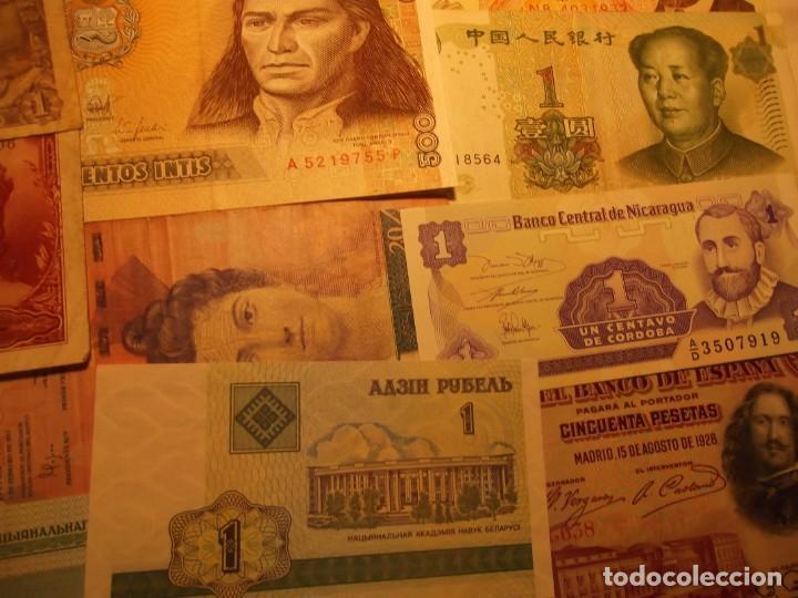 Billetes extranjeros: 22 Billetes varios , España entre otros muchos sin circular y un dolar - Foto 7 - 208469387