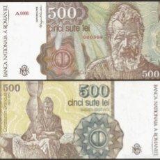 Notas Internacionais: RUMANIA. 500 LEI 1991 PLANCHA. Lote 208833901