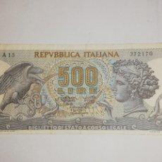 Billetes extranjeros: BILLETE 500 LIRAS 1967. Lote 209338705