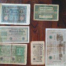 Billetes extranjeros: PRECIOSO LOTE DE 6 BILLETES DE BERLÍN,L15. Lote 209597831
