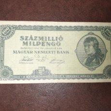 Notas Internacionais: 100 MILLONES DE PENGO DE 1946 HUNGRIA. Lote 209882998