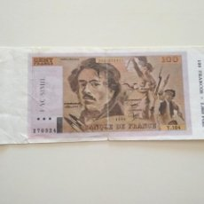 Billetes extranjeros: BILLETE FACSÍMIL 100 FRANCS. Lote 209971702