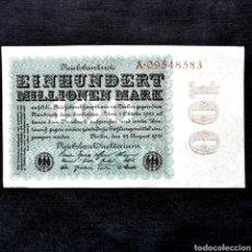 Banconote internazionali: C14. EBC. 100 MILLONES MARK 1923. Lote 209980650