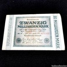 Banconote internazionali: C19. ALEMANIA. 20 BILLONES MARK 1923. Lote 209980710