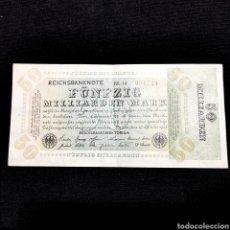 Banconote internazionali: C20. ALEMANIA. 50 BILLONES MARK 1923. Lote 209980711