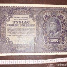 Notas Internacionais: POLONIA. 1000 MAREK 23.8.1919. Lote 210236706