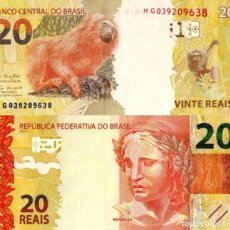 Billetes extranjeros: BRAZIL, 20 REAIS, 2020, SERIE H, P-NEW (NOT YET IN CATALOG), NEW SIGNATURE, UNC. Lote 210461550