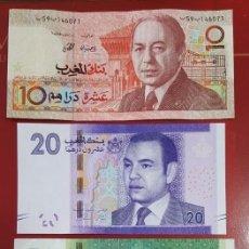 Billetes extranjeros: LOTE BILLETES DE MARRUECOS, EN MUY BUEN ESTADO, ALGUNO UNC. Lote 210462607