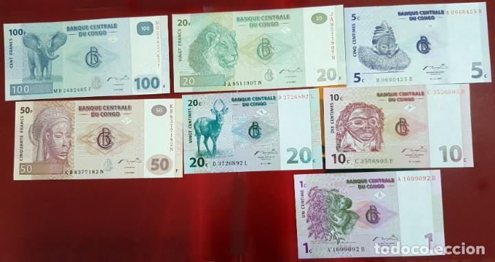 LOTE BILLETES DEL CONGO, PLANCHA (Numismática - Notafilia - Billetes Extranjeros)