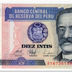 Banconote internazionali: PERU,10 INTIS,1987,P.129,UNC. Lote 210520555