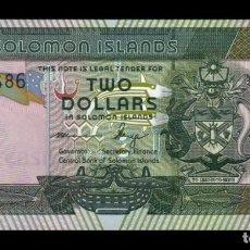 Billetes extranjeros: ISLAS SALOMÓN SOLOMON 2 DOLLARS 2011 PICK 25B SC UNC. Lote 210628545
