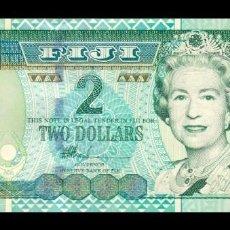 Billetes extranjeros: FIJI 2 DOLLARS ELIZABETH II 2002 PICK 104 SC UNC. Lote 210628576