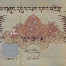 Billetes extranjeros: BUTAN 5 NGULTRUMS 2015 PLANCHA. Lote 210642148