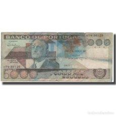 Notas Internacionais: BILLETE, 5000 ESCUDOS, PORTUGAL, 1986-01-07, KM:182E, RC+. Lote 210842929