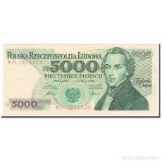 Billetes extranjeros: BILLETE, 5000 ZLOTYCH, 1986, POLONIA, 1986-06-01, KM:150B, MBC. Lote 210989104