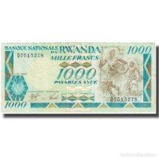 Billetes extranjeros: BILLETE, 1000 FRANCS, 1988, RUANDA, 1988-01-01, KM:21A, MBC. Lote 211249742