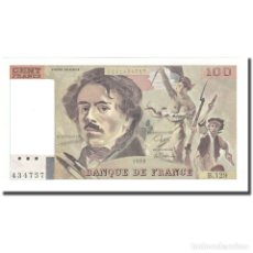 Billetes extranjeros: FRANCIA, 100 FRANCS, DELACROIX, 1988, UNC, FAYETTE:69.12, KM:154D. Lote 211249802