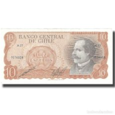 Billetes extranjeros: BILLETE, 10 ESCUDOS, UNDATED (1970), CHILE, KM:142, UNC. Lote 211255130
