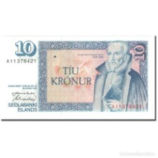 Billetes extranjeros: BILLETE, 10 KRONUR, 1981, ISLANDIA, 1981 (OLD DATE 1961-03-29), KM:48A, UNC. Lote 211255284
