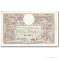 Billetes extranjeros: FRANCIA, 100 FRANCS, LUC OLIVIER MERSON, 1939, 1939-04-13, MBC, FAYETTE:25.46. Lote 211255504