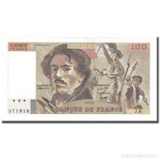 Billetes extranjeros: FRANCIA, 100 FRANCS, DELACROIX, 1978, UNC, FAYETTE:69.1D, KM:154A. Lote 211256996