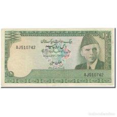Billetes extranjeros: BILLETE, 10 RUPEES, 1976-1984, PAKISTÁN, UNDATED (1976-84), KM:29, BC+. Lote 211257182