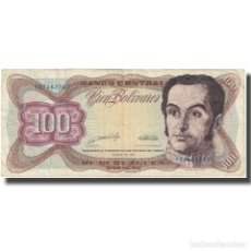 Billetes extranjeros: BILLETE, 100 BOLIVARES, 1989, VENEZUELA, 1989-03-16, KM:66B, BC. Lote 211395746