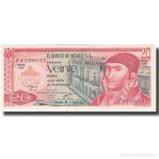 Billetes extranjeros: BILLETE, 20 PESOS, 1977, MÉXICO, 1977-07-08, KM:64D, EBC. Lote 211395972