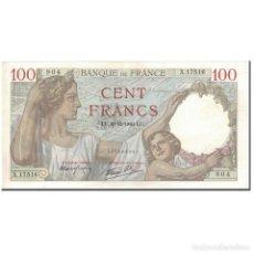 Billetes extranjeros: FRANCIA, 100 FRANCS, SULLY, 1940-12-19, SC, FAYETTE:26.43, KM:94. Lote 211396239