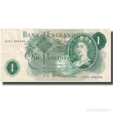 Billetes extranjeros: BILLETE, 1 POUND, UNDATED (1937), GRAN BRETAÑA, KM:374G, MBC. Lote 211396311
