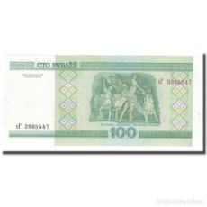 Billetes extranjeros: BILLETE, 100 RUBLEI, 2000, BIELORRUSIA, KM:26B, UNC. Lote 211396387