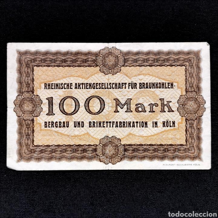Billetes extranjeros: Notgeld. Gutschein. 100 mark 1922 - Foto 2 - 211832485