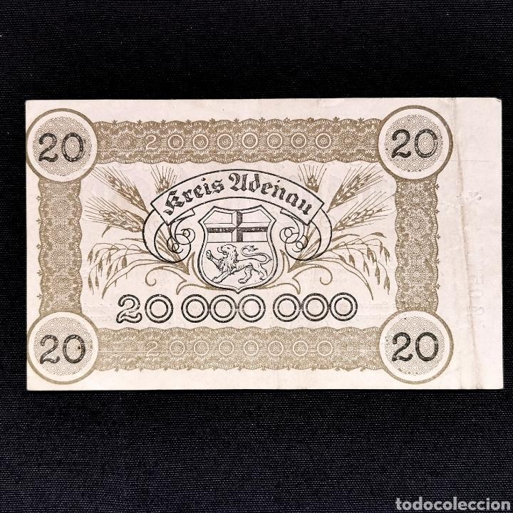 Billetes extranjeros: Notgeld. Gutschein. 20 millones de mark 1923 - Foto 2 - 211832688