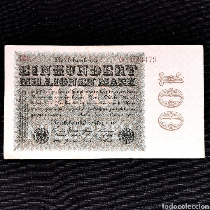 ALEMANIA. 100 MILLONES DE MARK 1923. EXCELENTE EJEMPLAR (Numismática - Notafilia - Billetes Extranjeros)