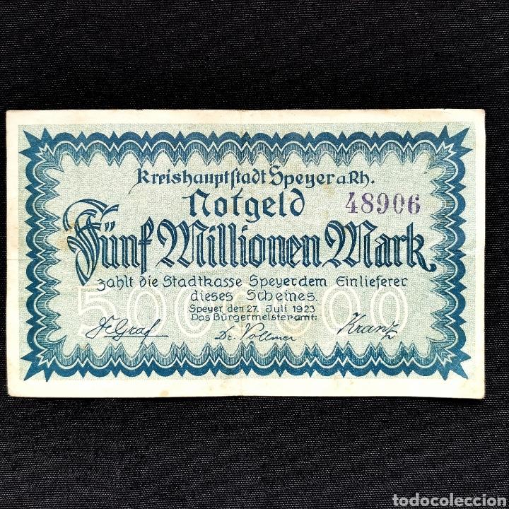 NOTGELD. SPEYER. 5 MILLONES DE MARK 1923 (Numismática - Notafilia - Billetes Extranjeros)