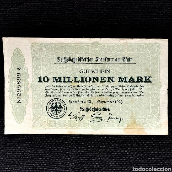 NOTGELD. GUTSCHEIN. 10 MILLONES DE MARK 1923 (Numismática - Notafilia - Billetes Extranjeros)