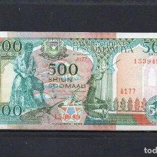 Billets internationaux: SOMALIA 1993, 500 SHILIN, P-36C SC-UNC, 2 ESCANER. Lote 212060801