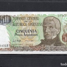 Billets internationaux: ARGENTINA 1985, 50 PESOS, P-314A.2, SC-UNC, 2 ESCANER. Lote 212144722
