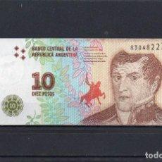 Billets internationaux: ARGENTINA 2016, 10 PESOS, P-360A, SC-UNC, 2 ESCANER. Lote 212145572