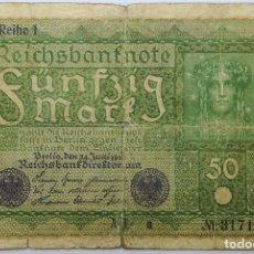 Billetes extranjeros: BILLETE ALEMANIA. 1919. 50 MARCOS. REPÚBLICA DE WEIMAR. MBC. Lote 212532992