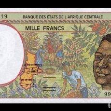 Billetes extranjeros: ESTADOS AFRICA CENTRAL CENTRAL AFRICAN ST. 1000 FRANCS 1999 PICK 302FF SC UNC. Lote 221954015