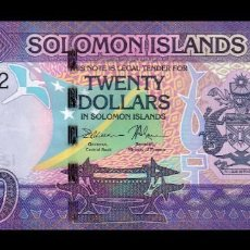 Billetes extranjeros: ISLAS SALOMON SOLOMON 20 DOLLARS 2017 PICK 34 SC UNC. Lote 221951871